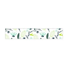 Hand drawm seamless floral pattern Flano Scarf (Mini)