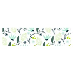 Hand drawm seamless floral pattern Satin Scarf (Oblong)