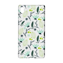 Hand drawm seamless floral pattern Sony Xperia Z3+