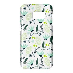 Hand drawm seamless floral pattern Samsung Galaxy S7 Hardshell Case