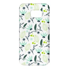 Hand drawm seamless floral pattern Samsung Galaxy S7 Edge Hardshell Case