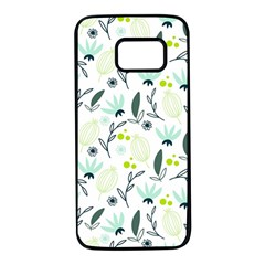 Hand drawm seamless floral pattern Samsung Galaxy S7 Black Seamless Case