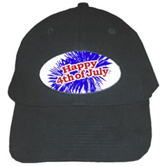 Happy 4th Of July Graphic Logo Black Cap