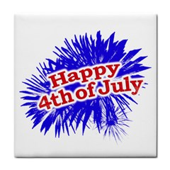 Happy 4th Of July Graphic Logo Tile Coasters