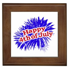 Happy 4th Of July Graphic Logo Framed Tiles