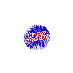 Happy 4th Of July Graphic Logo 1  Mini Buttons