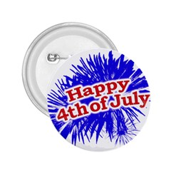 Happy 4th Of July Graphic Logo 2.25  Buttons