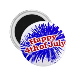 Happy 4th Of July Graphic Logo 2.25  Magnets