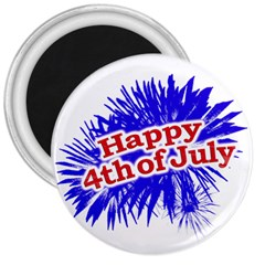 Happy 4th Of July Graphic Logo 3  Magnets