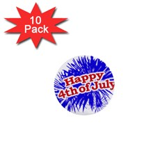 Happy 4th Of July Graphic Logo 1  Mini Buttons (10 pack)
