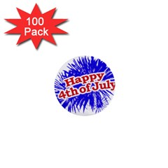 Happy 4th Of July Graphic Logo 1  Mini Buttons (100 pack)