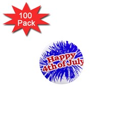 Happy 4th Of July Graphic Logo 1  Mini Magnets (100 pack)