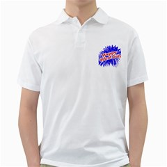 Happy 4th Of July Graphic Logo Golf Shirts