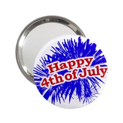 Happy 4th Of July Graphic Logo 2.25  Handbag Mirrors