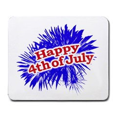 Happy 4th Of July Graphic Logo Large Mousepads