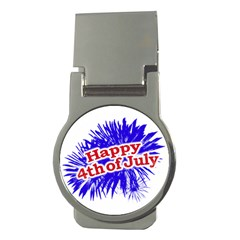 Happy 4th Of July Graphic Logo Money Clips (Round)