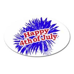 Happy 4th Of July Graphic Logo Oval Magnet
