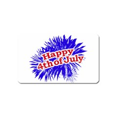 Happy 4th Of July Graphic Logo Magnet (Name Card)