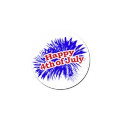 Happy 4th Of July Graphic Logo Golf Ball Marker (4 pack)