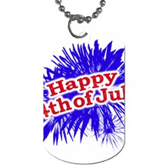 Happy 4th Of July Graphic Logo Dog Tag (Two Sides)