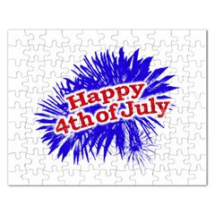 Happy 4th Of July Graphic Logo Rectangular Jigsaw Puzzl