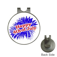 Happy 4th Of July Graphic Logo Hat Clips with Golf Markers