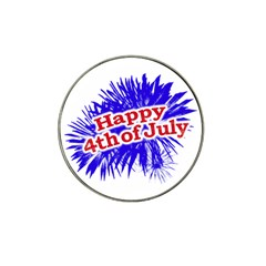 Happy 4th Of July Graphic Logo Hat Clip Ball Marker (10 pack)