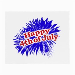 Happy 4th Of July Graphic Logo Small Glasses Cloth