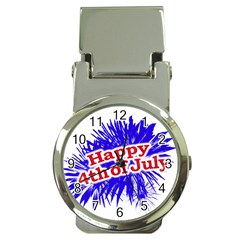 Happy 4th Of July Graphic Logo Money Clip Watches