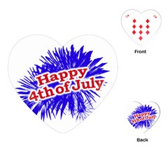 Happy 4th Of July Graphic Logo Playing Cards (Heart)