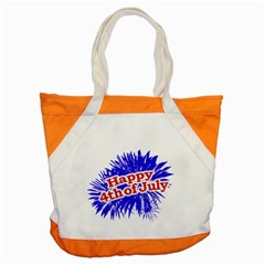 Happy 4th Of July Graphic Logo Accent Tote Bag