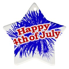 Happy 4th Of July Graphic Logo Star Ornament (Two Sides)