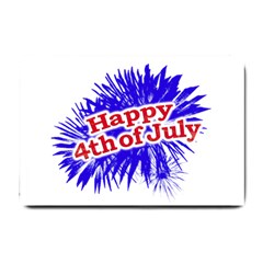 Happy 4th Of July Graphic Logo Small Doormat