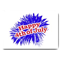 Happy 4th Of July Graphic Logo Large Doormat