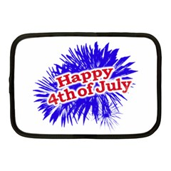Happy 4th Of July Graphic Logo Netbook Case (Medium)