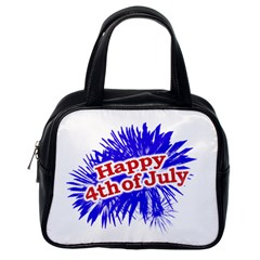 Happy 4th Of July Graphic Logo Classic Handbags (One Side)