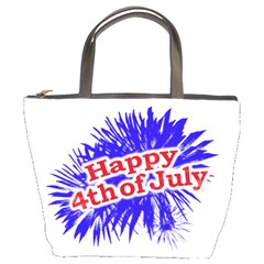 Happy 4th Of July Graphic Logo Bucket Bags