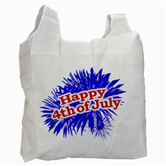 Happy 4th Of July Graphic Logo Recycle Bag (One Side)