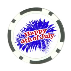 Happy 4th Of July Graphic Logo Poker Chip Card Guard (10 pack)