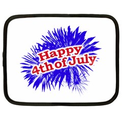 Happy 4th Of July Graphic Logo Netbook Case (XL)