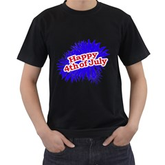 Happy 4th Of July Graphic Logo Men s T-Shirt (Black)