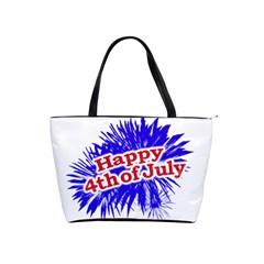 Happy 4th Of July Graphic Logo Shoulder Handbags