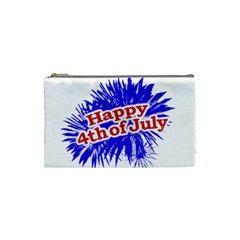 Happy 4th Of July Graphic Logo Cosmetic Bag (Small)