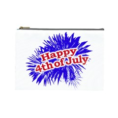 Happy 4th Of July Graphic Logo Cosmetic Bag (Large)