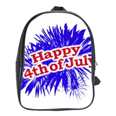 Happy 4th Of July Graphic Logo School Bags(Large)