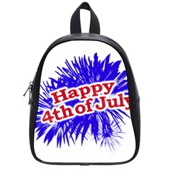 Happy 4th Of July Graphic Logo School Bags (Small)