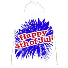 Happy 4th Of July Graphic Logo Full Print Aprons