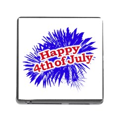 Happy 4th Of July Graphic Logo Memory Card Reader (Square)