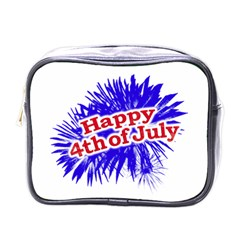 Happy 4th Of July Graphic Logo Mini Toiletries Bags