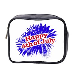Happy 4th Of July Graphic Logo Mini Toiletries Bag 2-Side